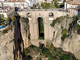 Aerial view of the Tajo of Ronda